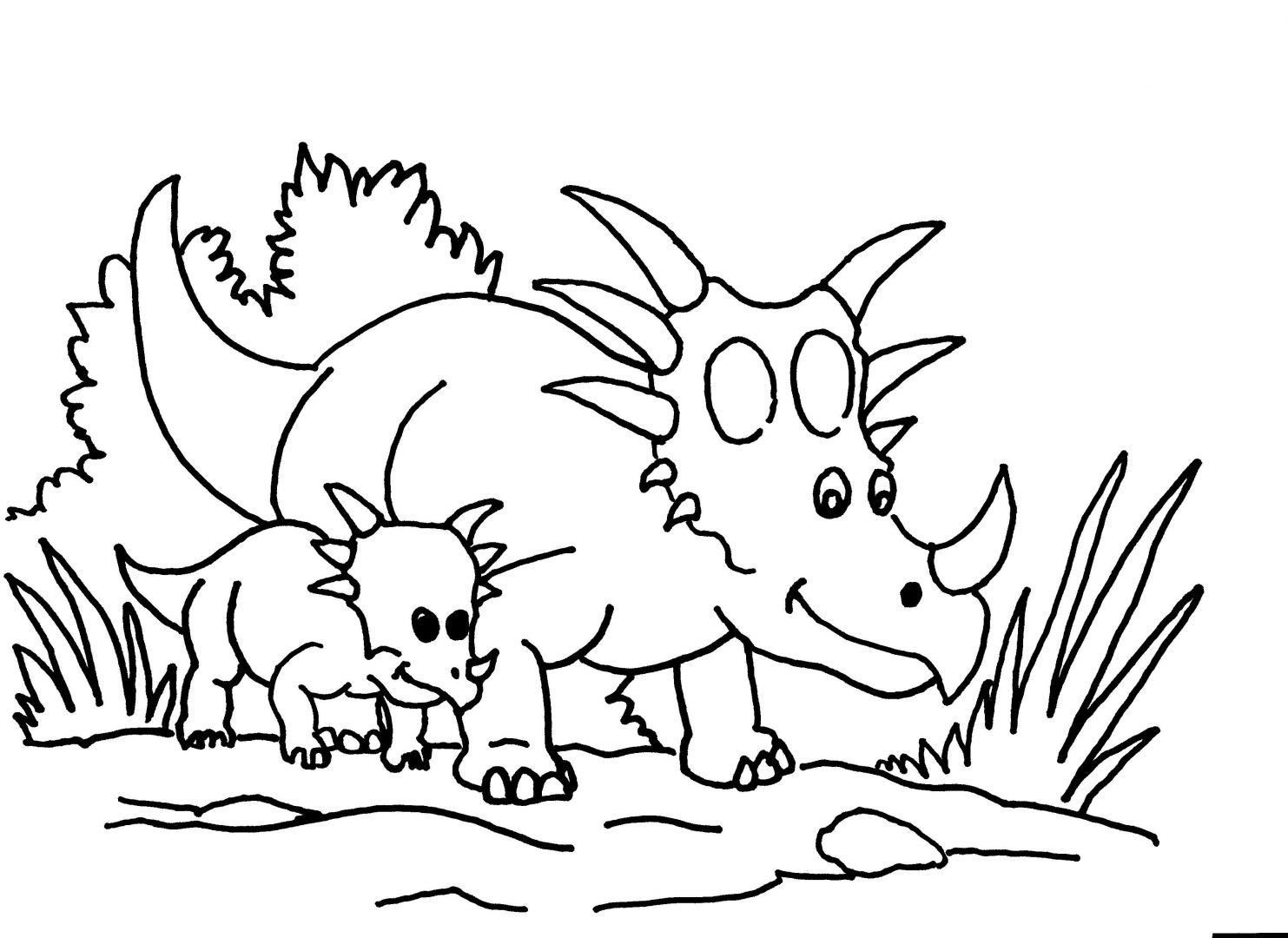 Printable Triceratops Coloring Pages | Coloring Me