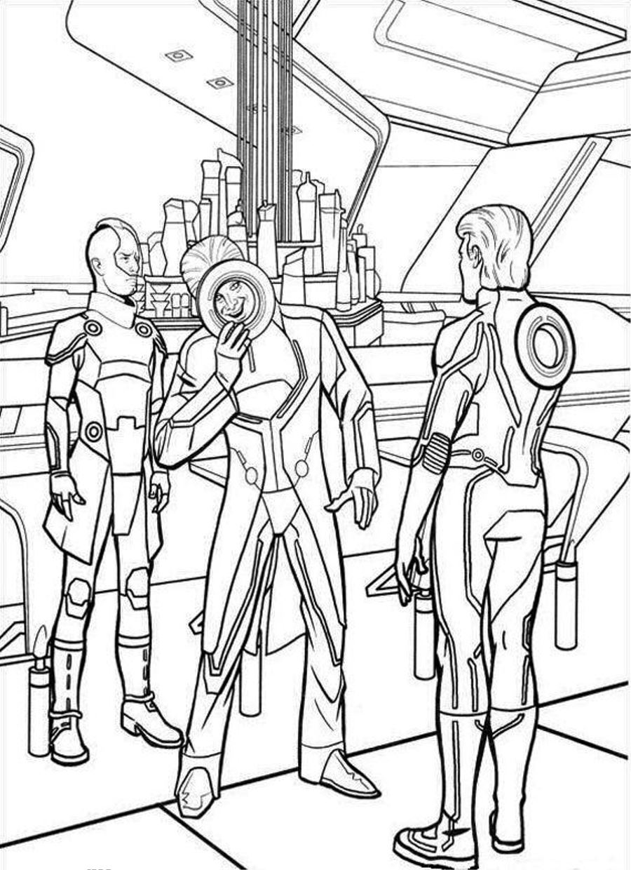 tron coloring pages to print - photo#14