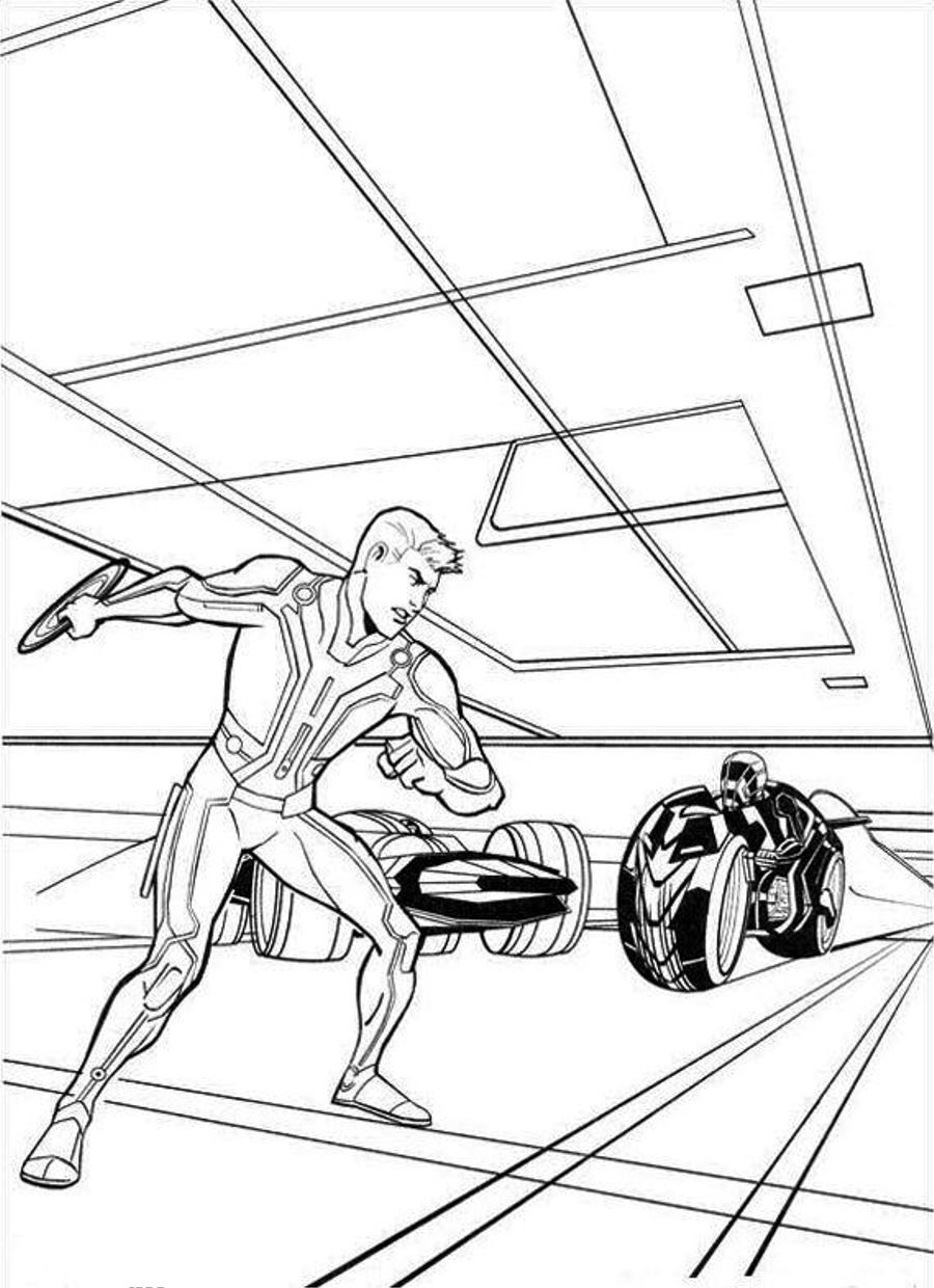 tron coloring pages to print - photo#1