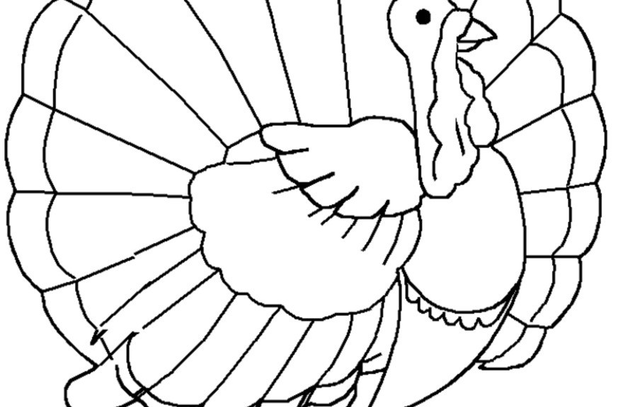 Turkey Head Coloring Pages
