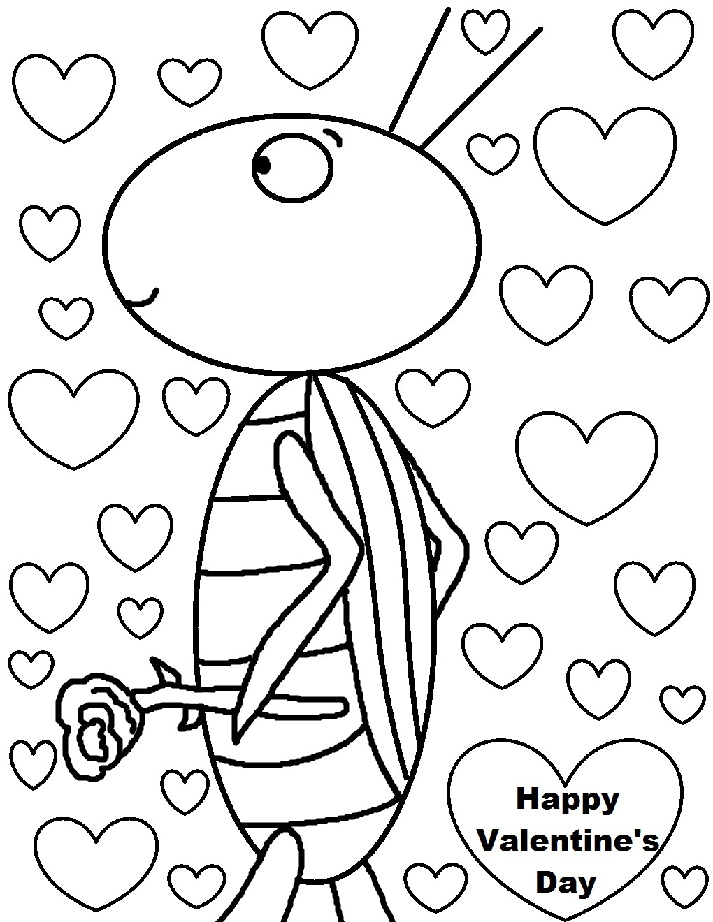 Coloring pages printable valentine's day - Valentine Coloring Page