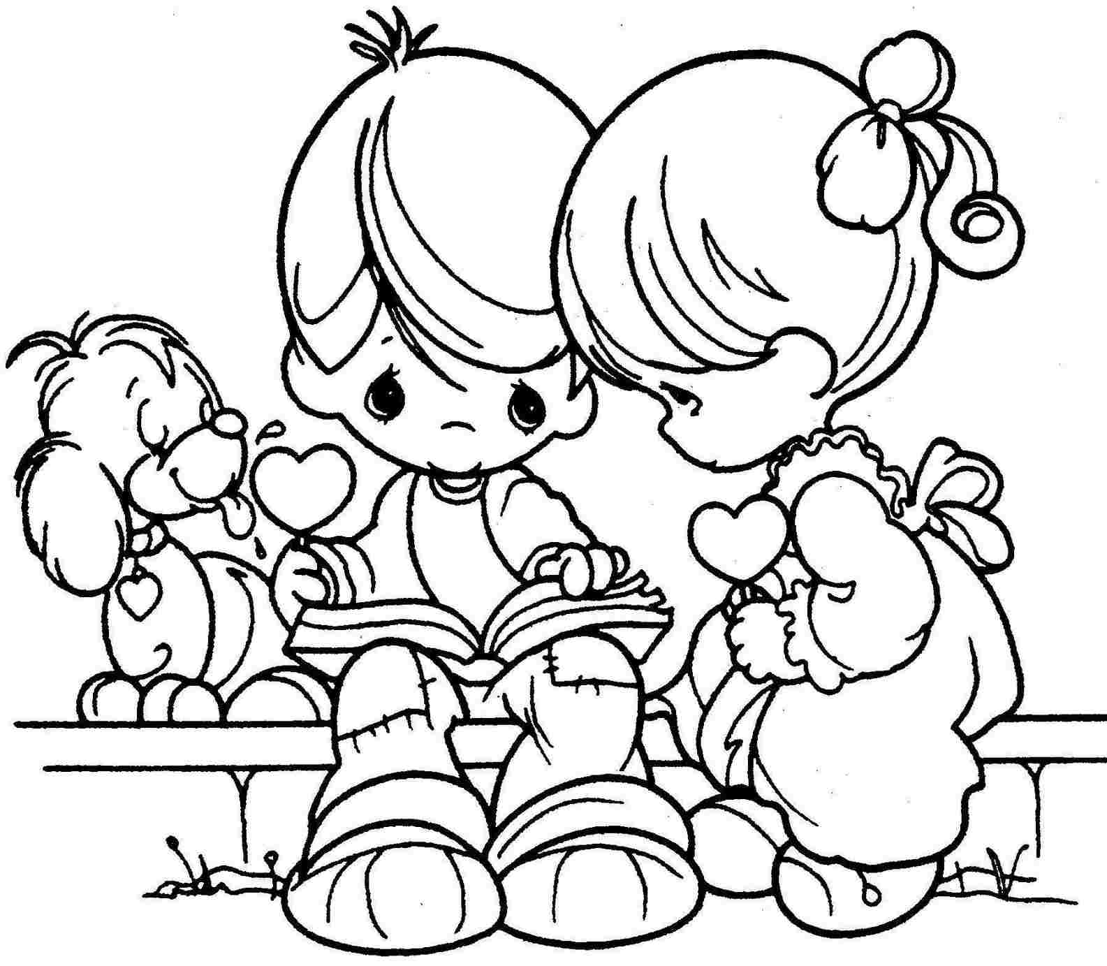 Free valentines day coloring pages to print - Valentines Day Coloring Pages For Kids