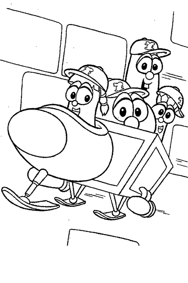 veggie tales coloring pages free - photo#25