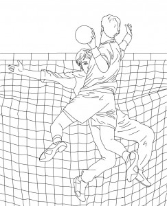 Volleyball Coloring Pages Printable