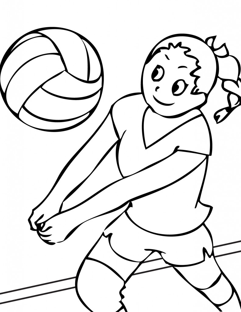 photograph about Printable Volleyball identified as Printable Volleyball Coloring Webpages