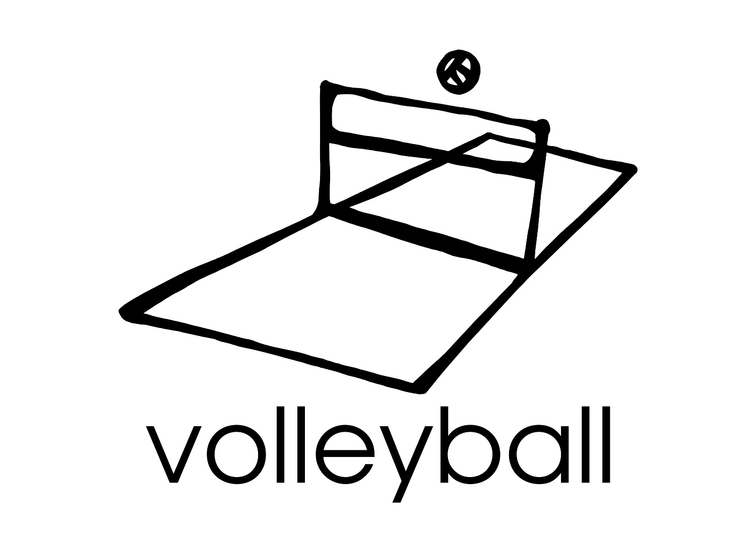 image regarding Volleyball Printable known as Printable Volleyball Coloring Web pages
