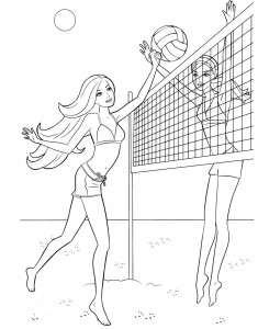Volleyball Girl Coloring Page