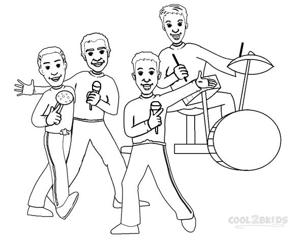wiggles coloring pages for kids - Wiggles Pictures To Print