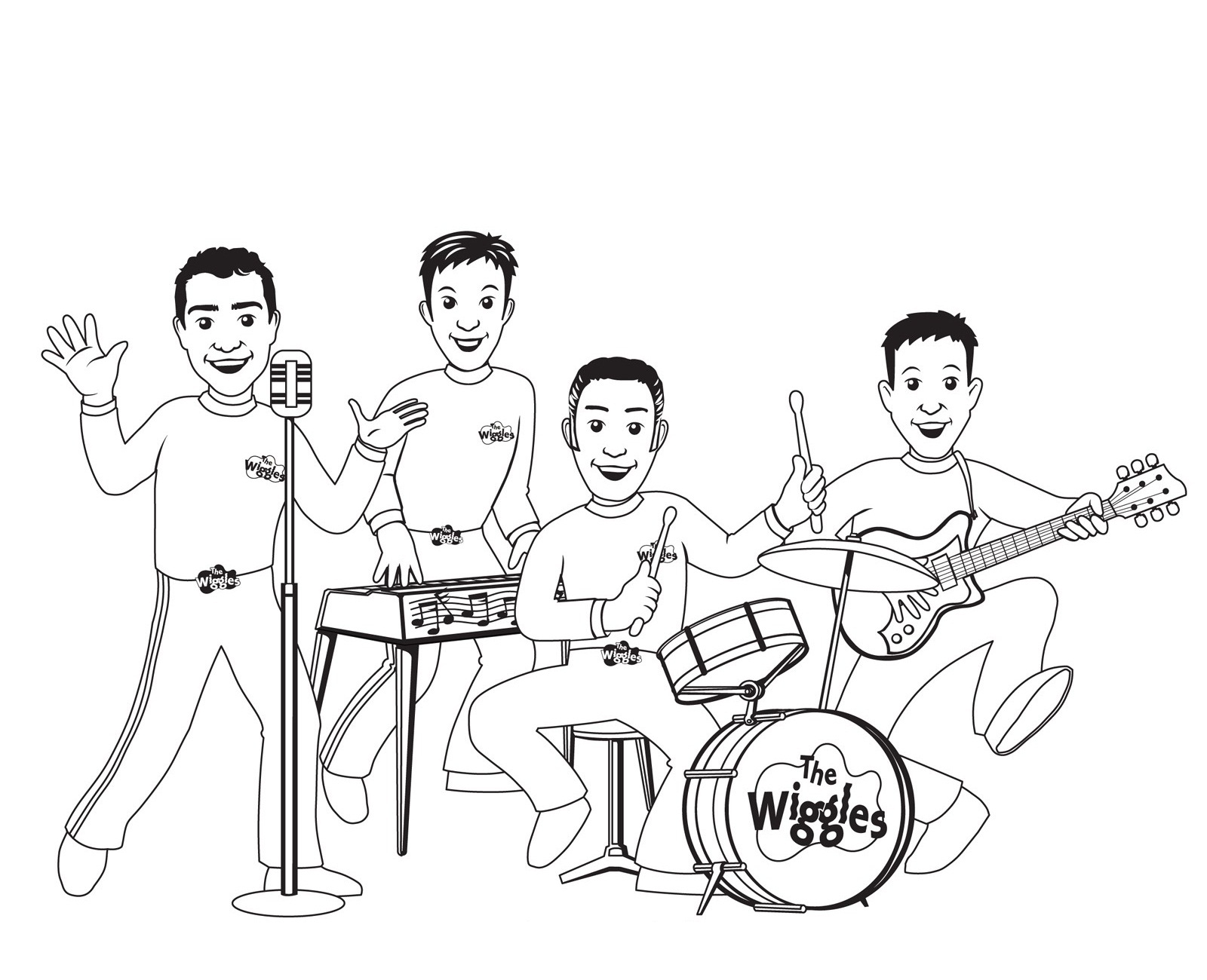 Wiggles Free Coloring Pages