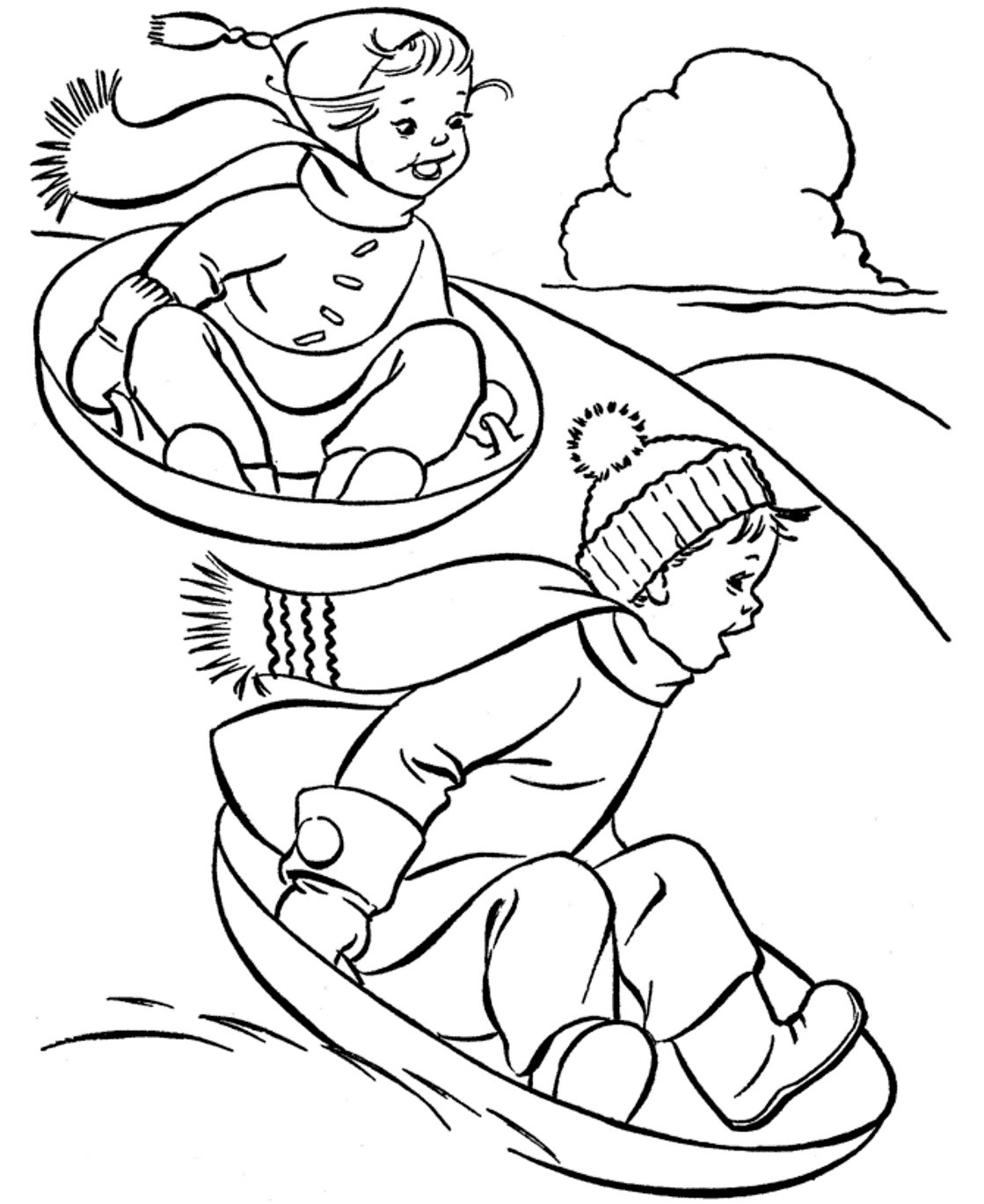 Coloring pages kids winter - Winter Coloring Page