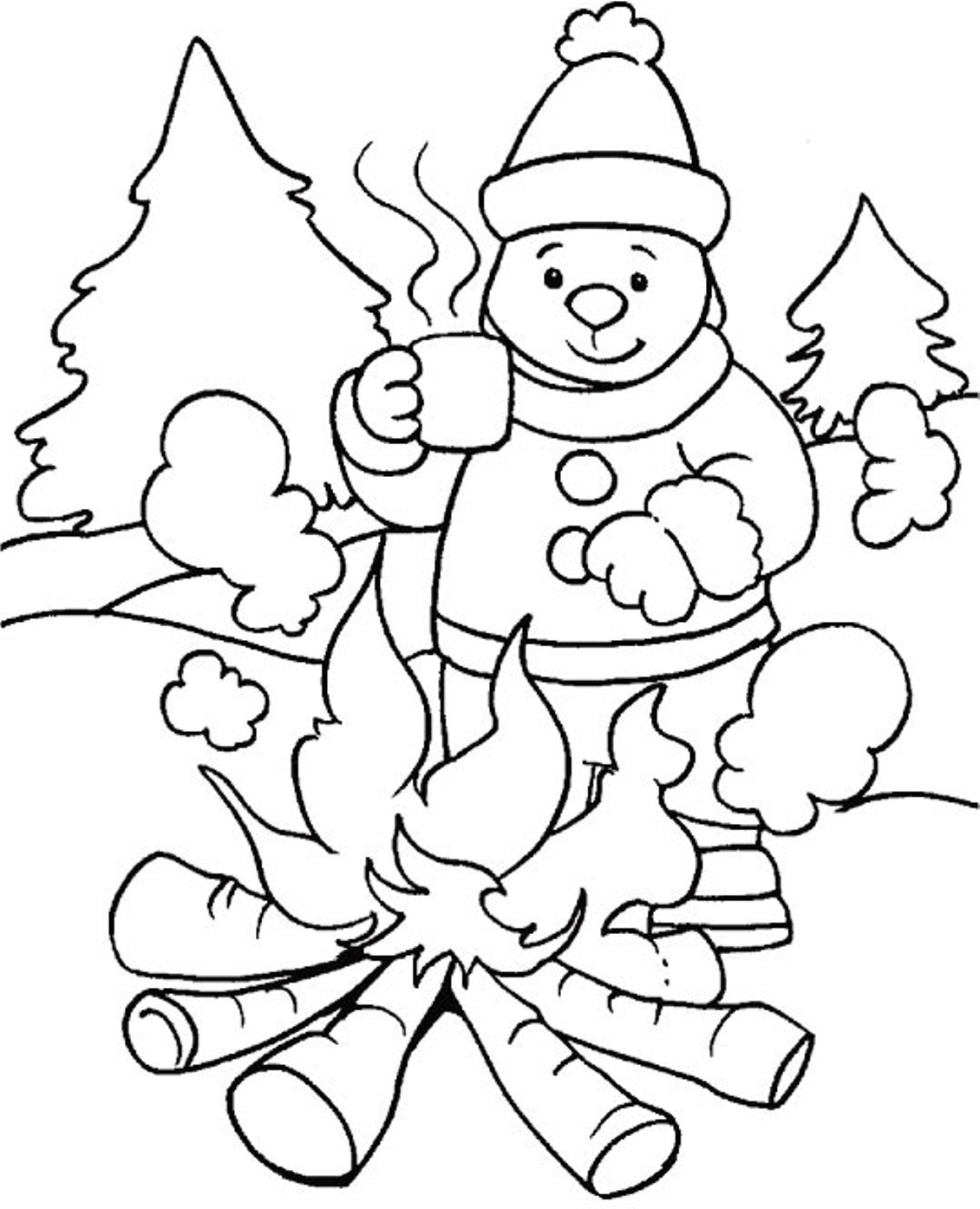 winter coloring pages kindergarten - photo#24