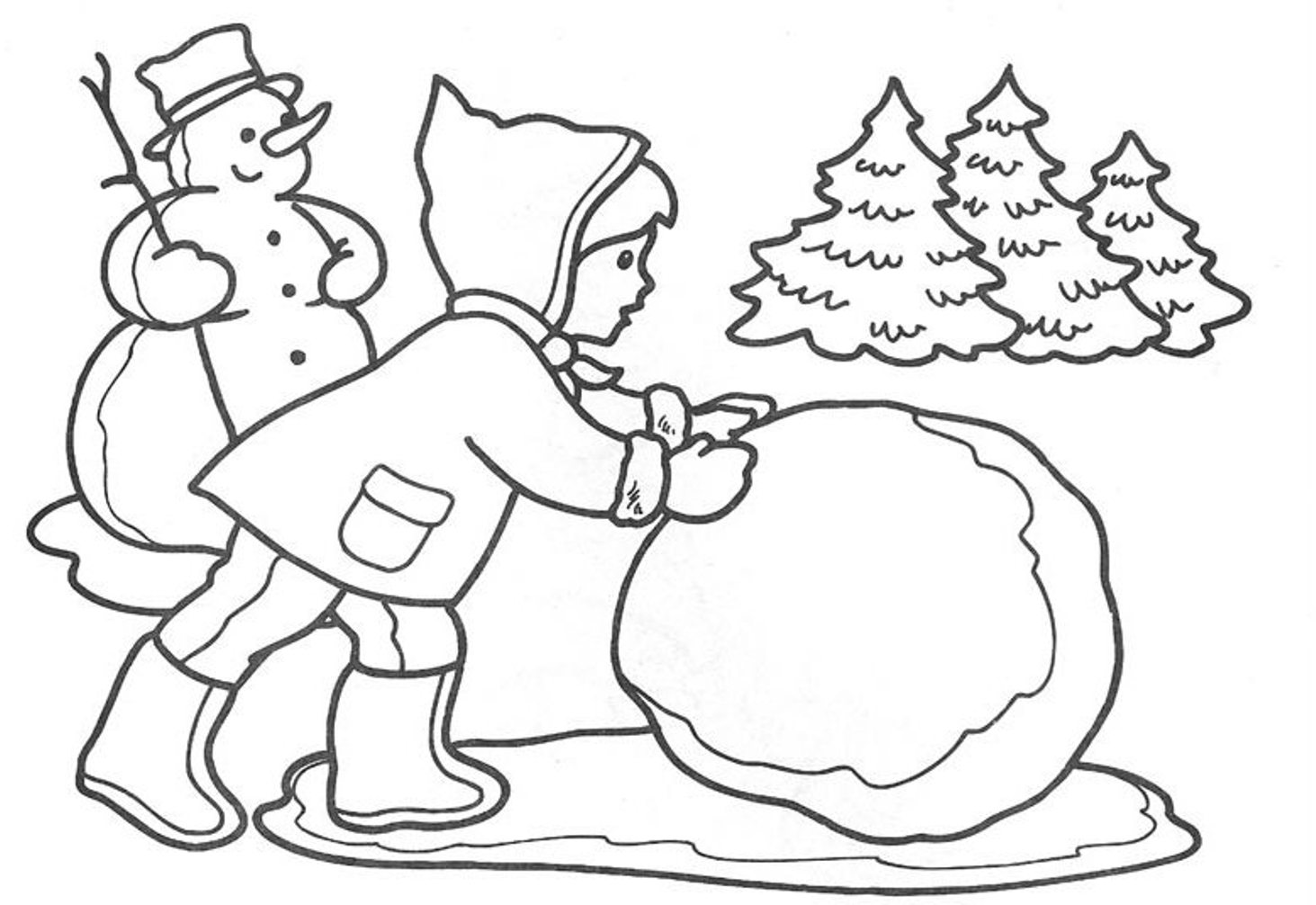 Printable Winter Coloring Pages Coloring Me