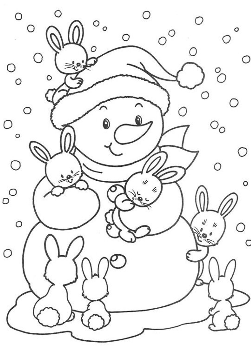Free Coloring Pages Of Winter Outdoor Scenes