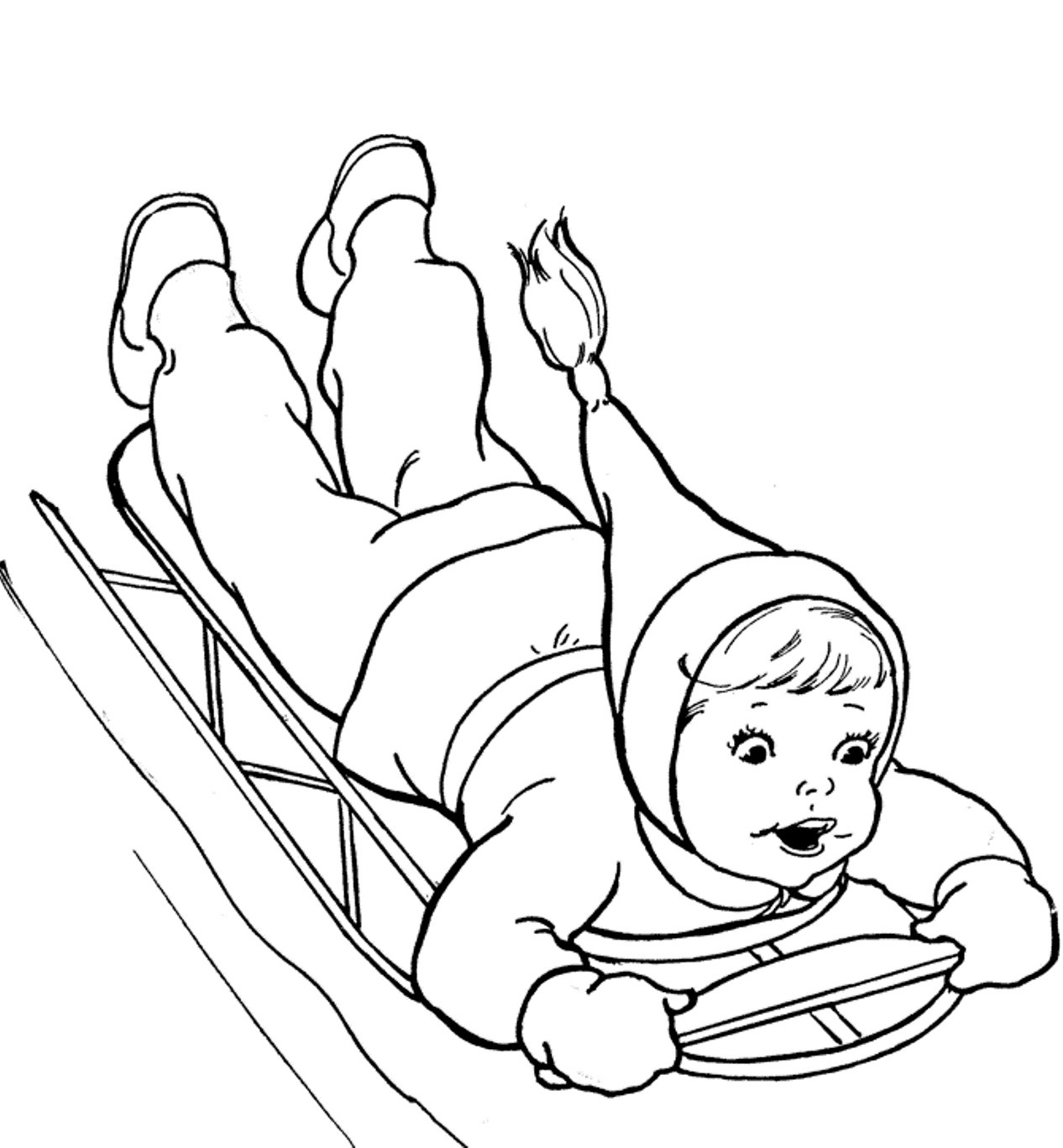 winter coloring pages kindergarten - photo#10