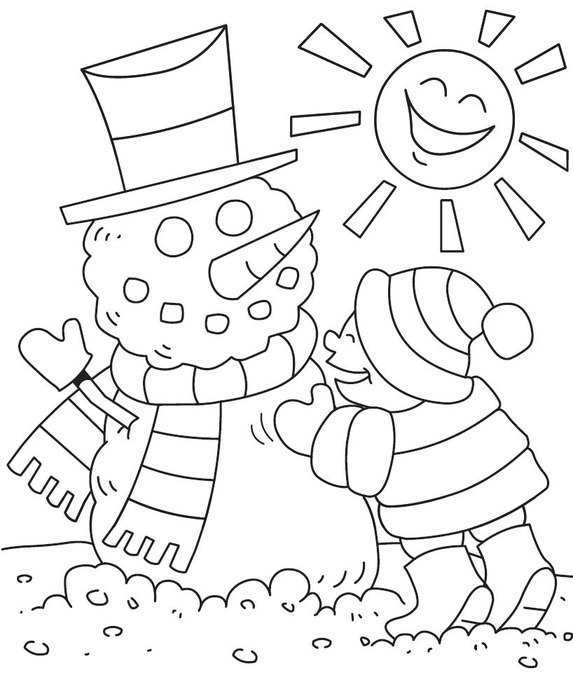 Printable coloring pages winter - Winter Coloring Pages