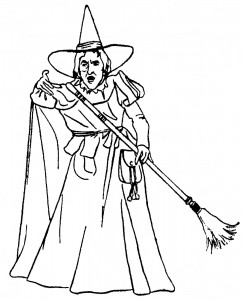 Witch Halloween Coloring Pages