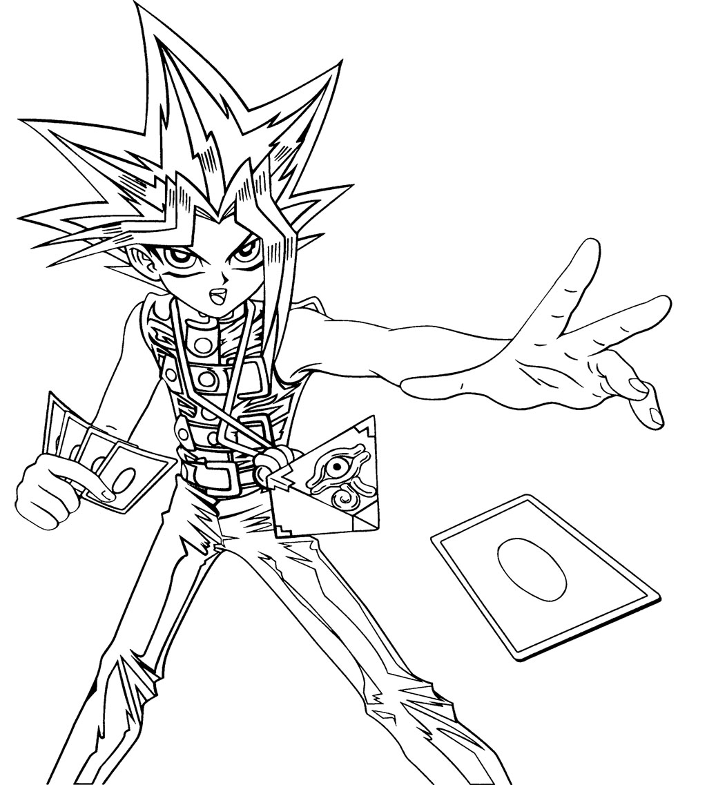 Coloring pages yugioh - Yugioh Cards Coloring Pages