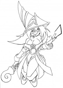 Yugioh Coloring Pages Dark Magician Girl