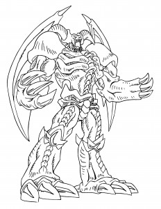 Yugioh Dragon Coloring Pages to Print