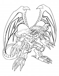 Yugioh Monsters Coloring Pages Free