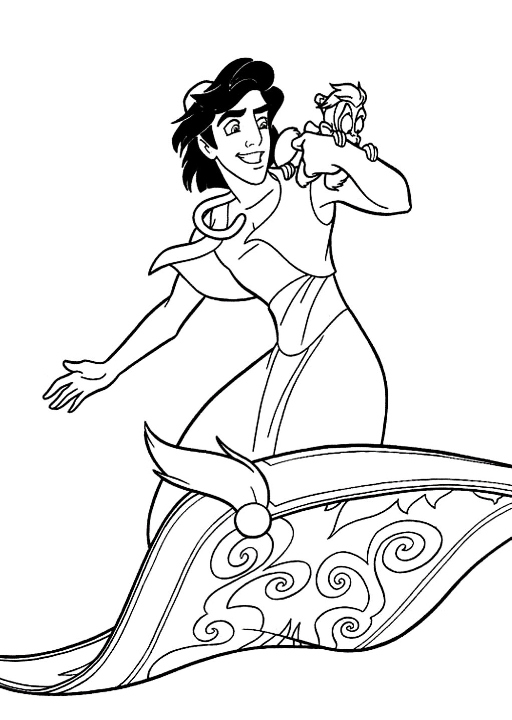 Princess jasmine aladdin coloring pages