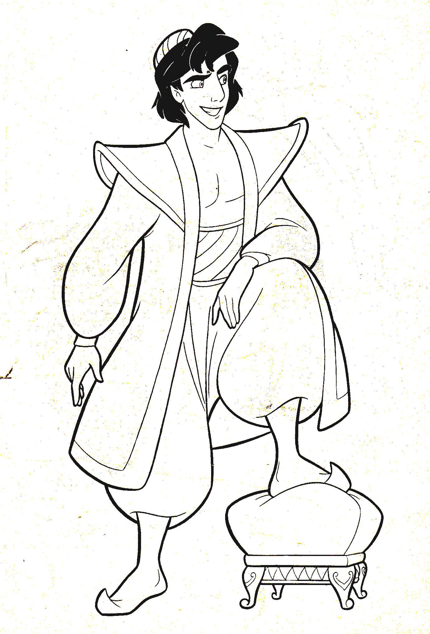 Aladdin-Free-Coloring-Pages