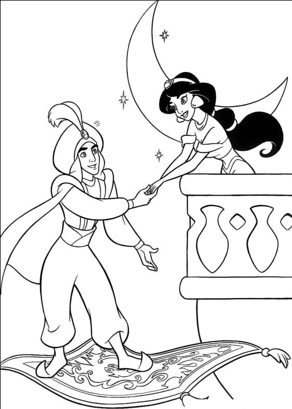 Printable Aladdin Coloring Pages | Coloring Me