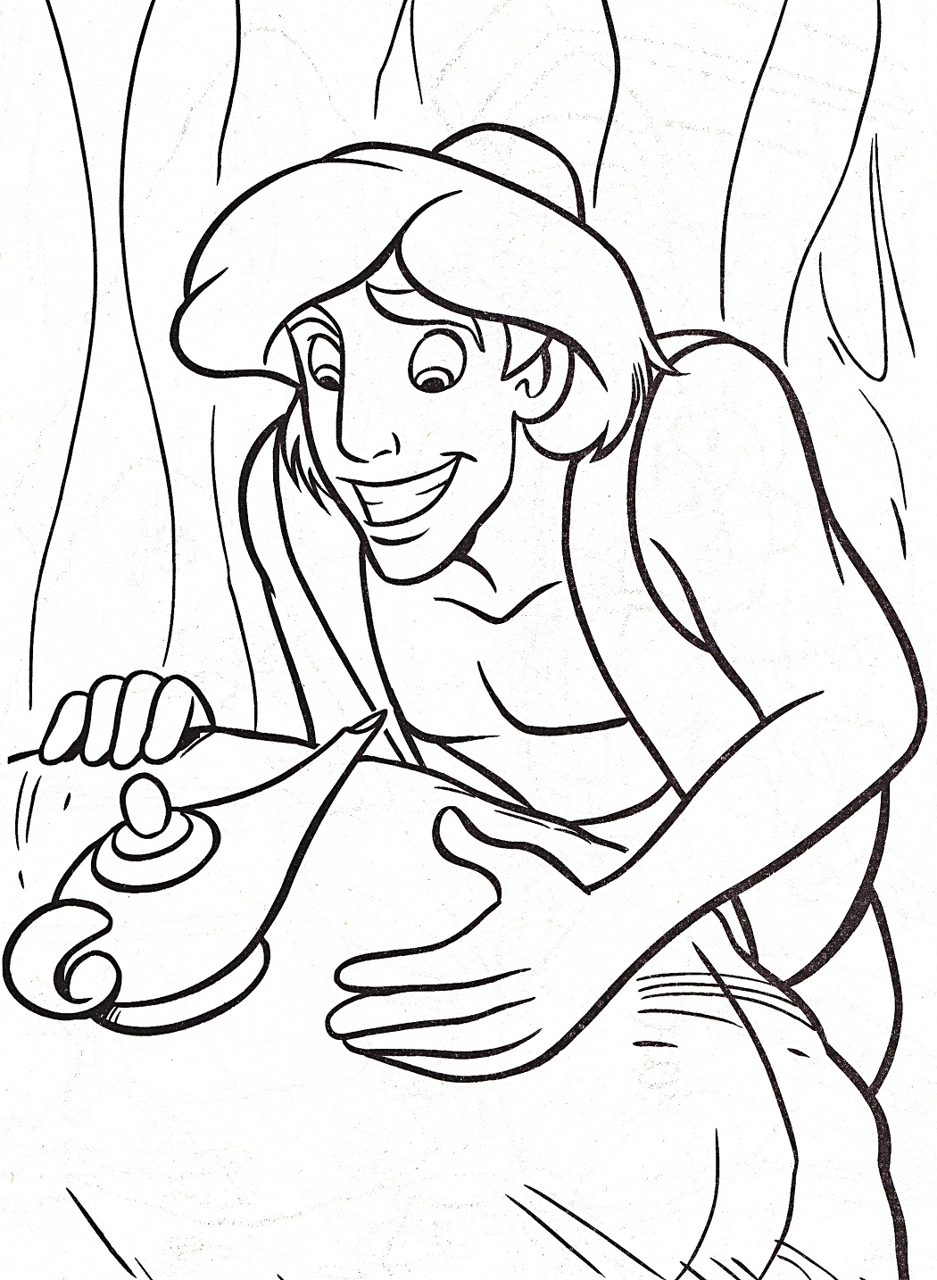 aladdin magic carpet coloring pages - photo#14