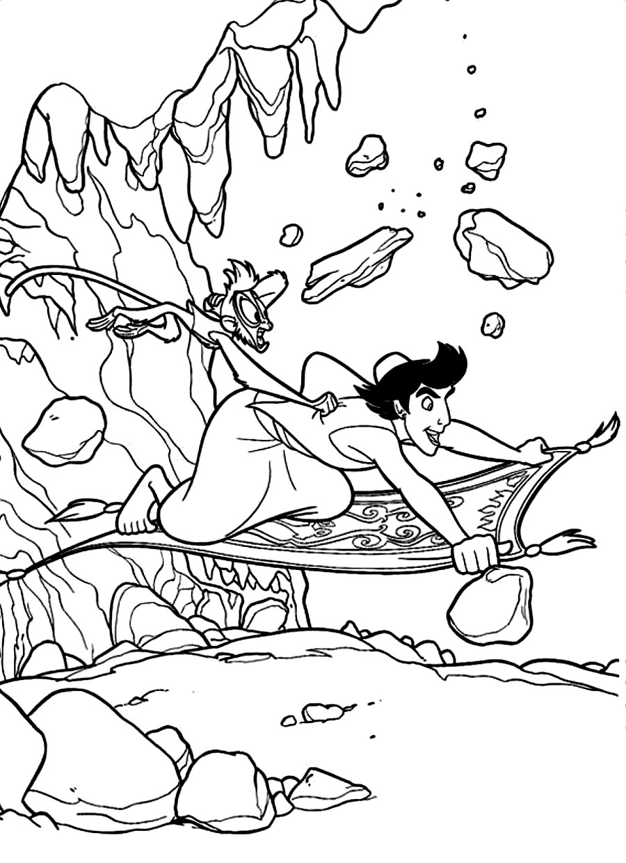 aladdin magic carpet coloring pages - photo#18