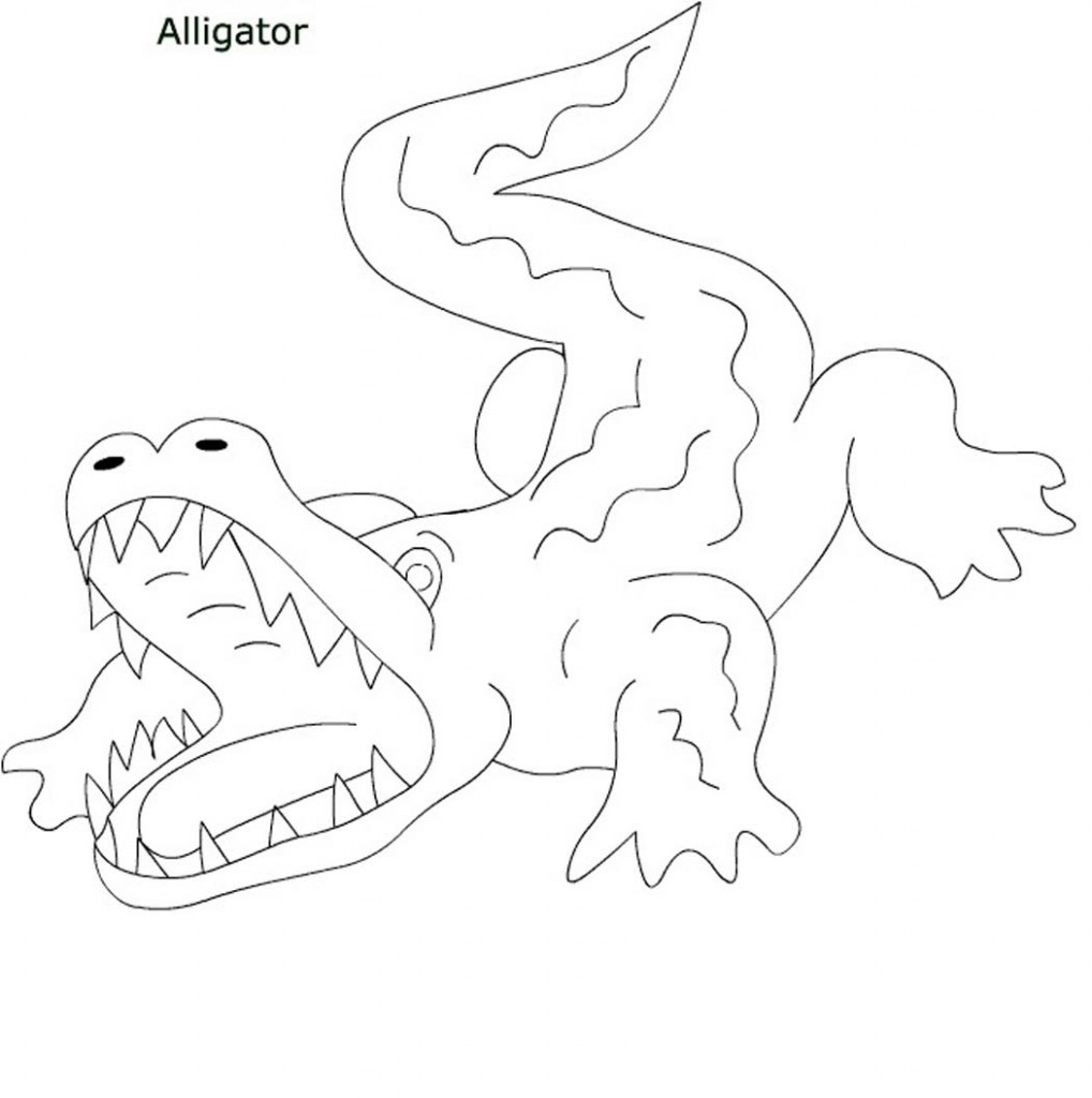 alligator and crocodile coloring pages