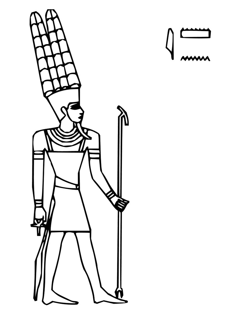 free printable ancient egypt coloring pages for kids inside