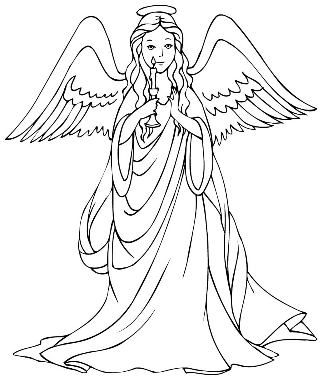 cute angels coloring pages - photo#28