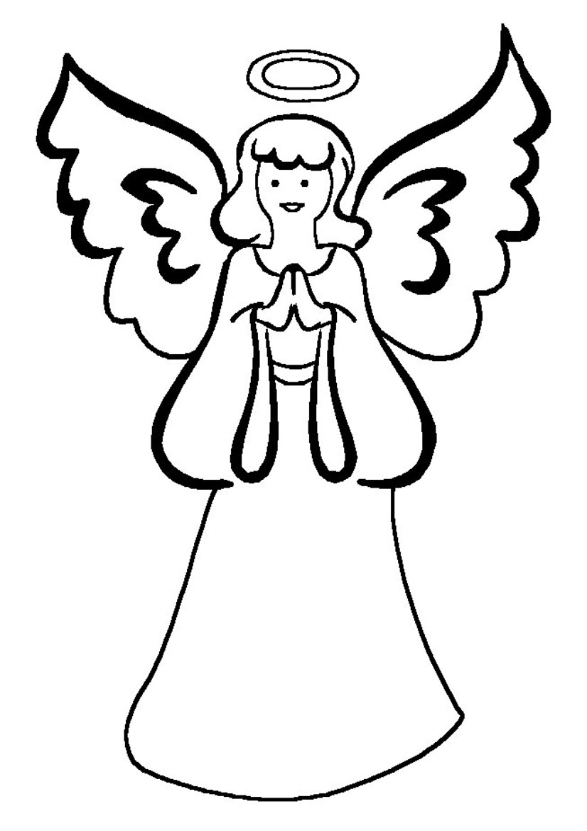 Printable angel wings coloring page new calendar for Coloring page angel