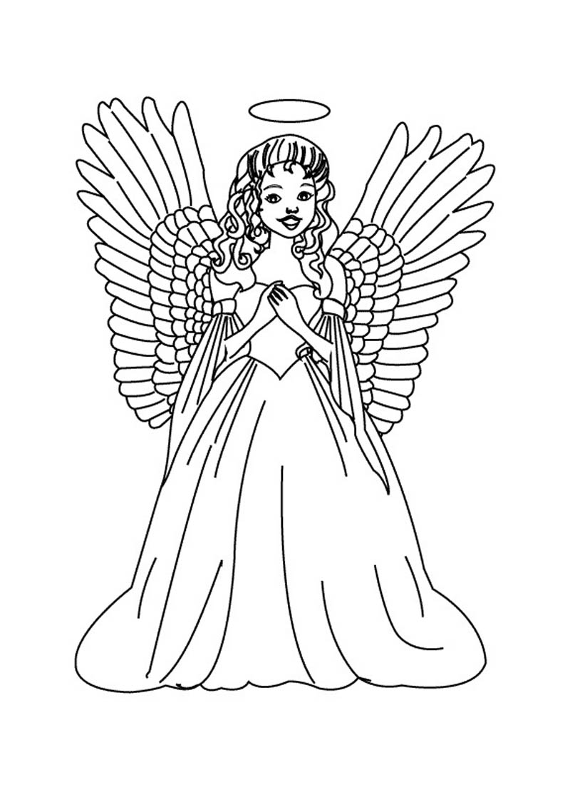 Coloring Pages Coloring Page Angel printable angel coloring pages me for kids