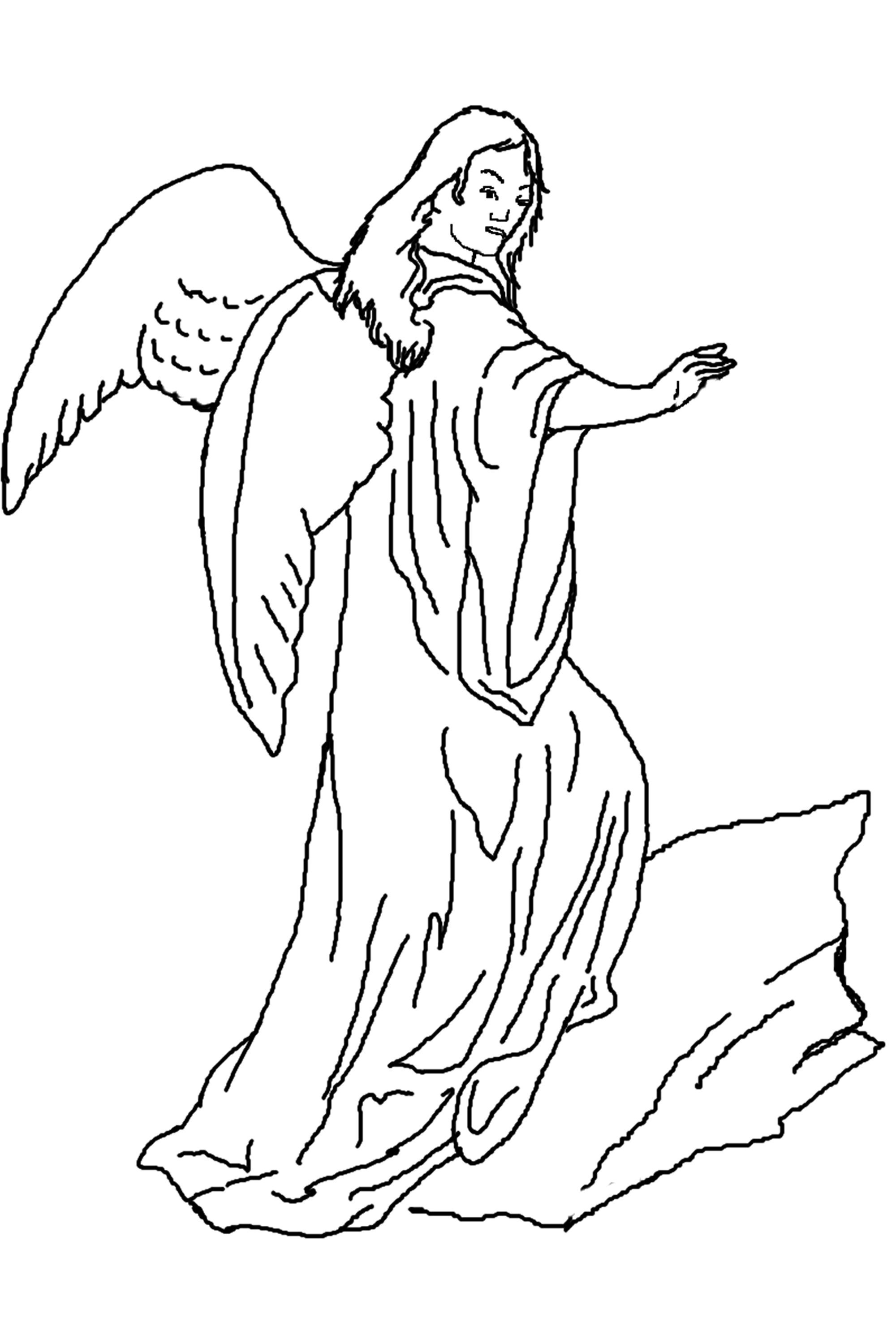 Angel Coloring Pages To Print Coloring Coloring Pages