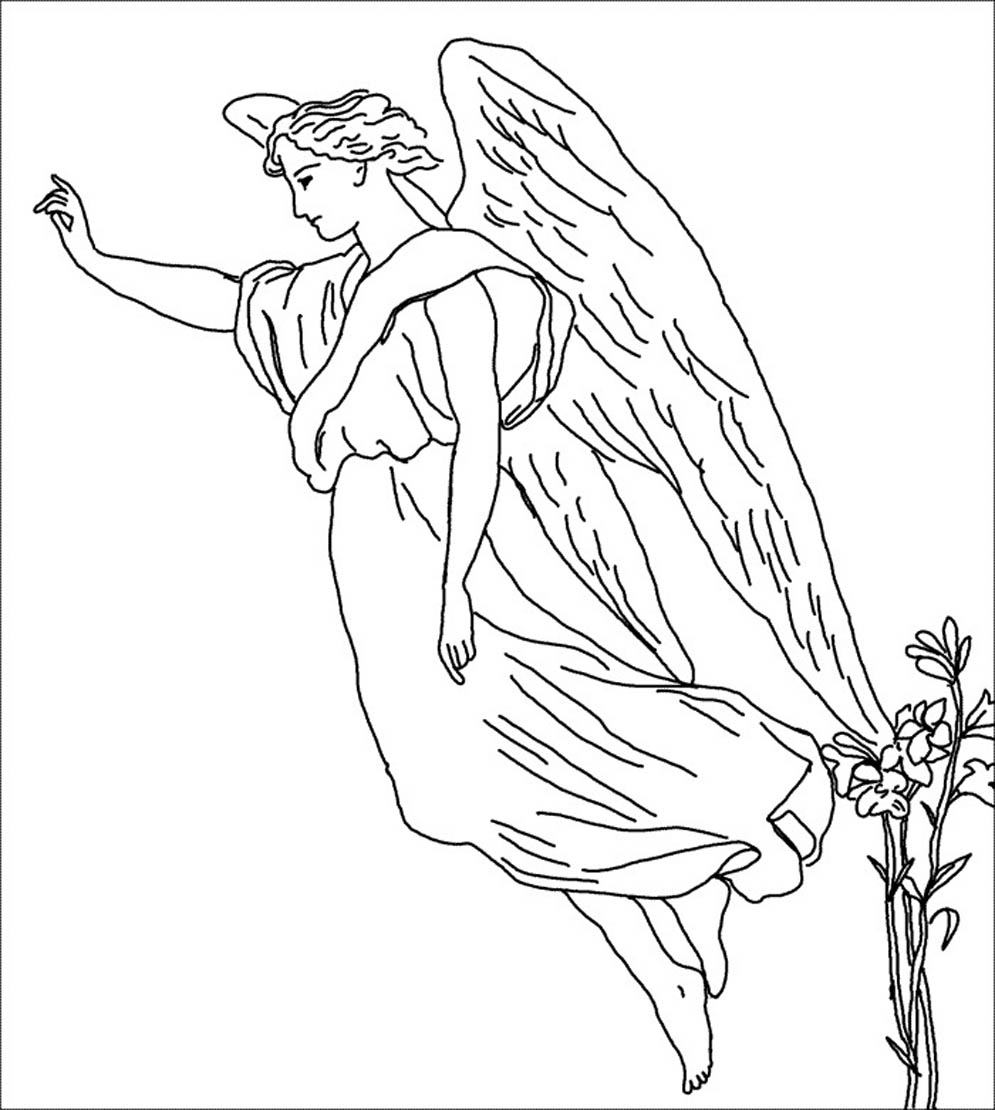 free coloring pages of little angels drawings