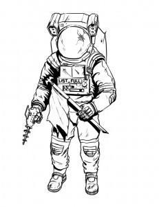 astronaut coloring pages print - Astronaut Coloring Pages