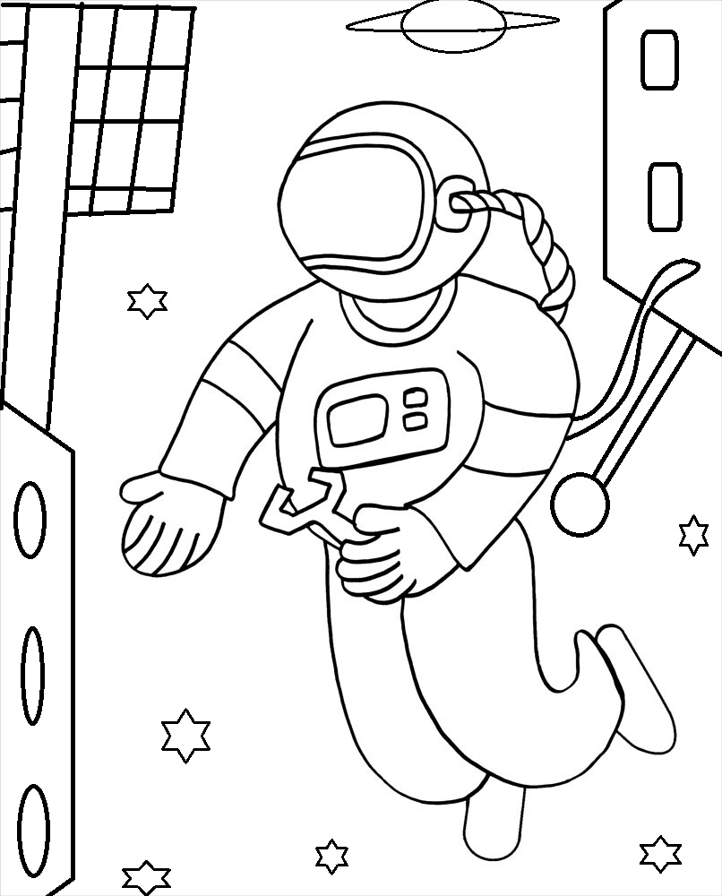 astronaut coloring pages collections