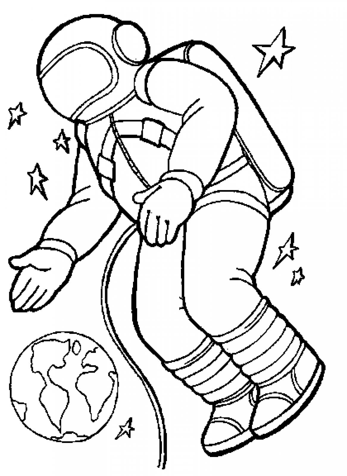 coloring pages on space - photo#11