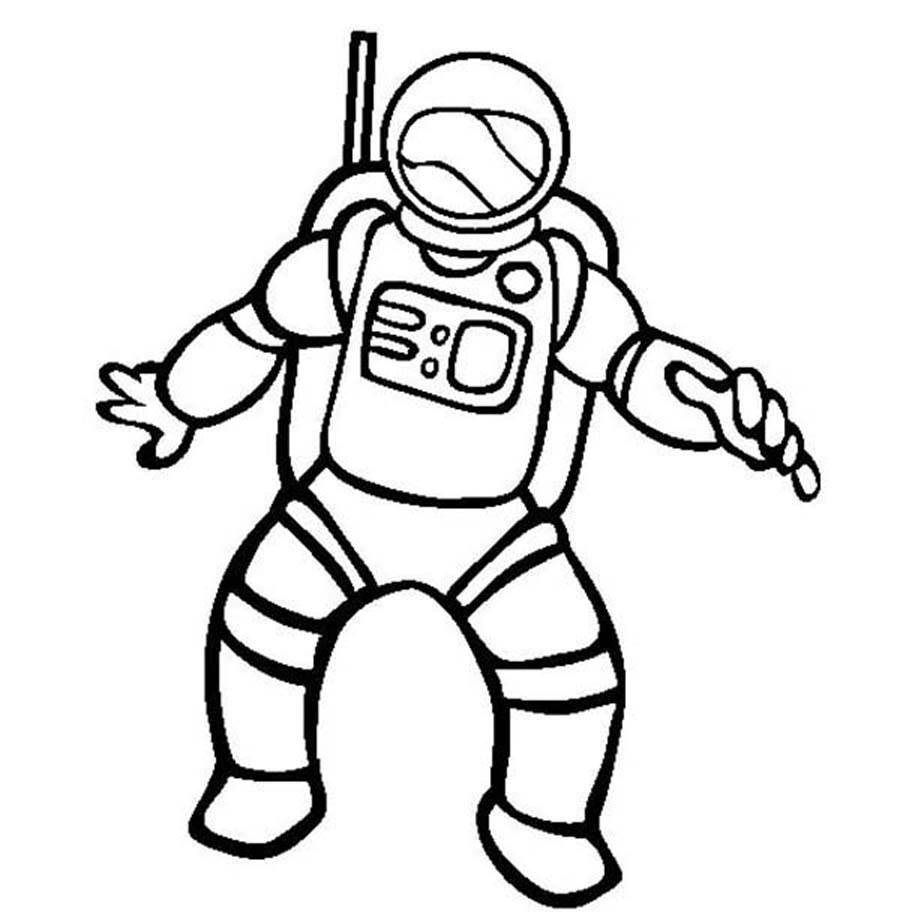astronaut clip art black and white - photo #14