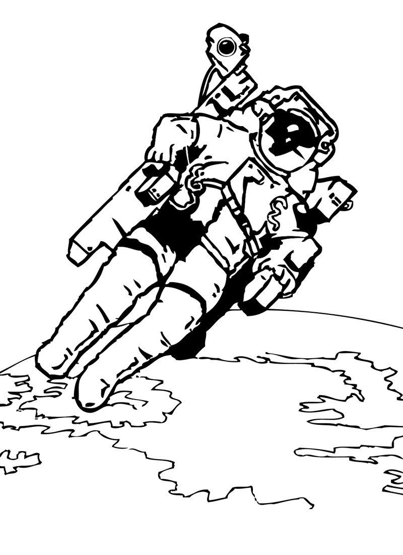 astronaut space suit coloring page page 3 pics about space