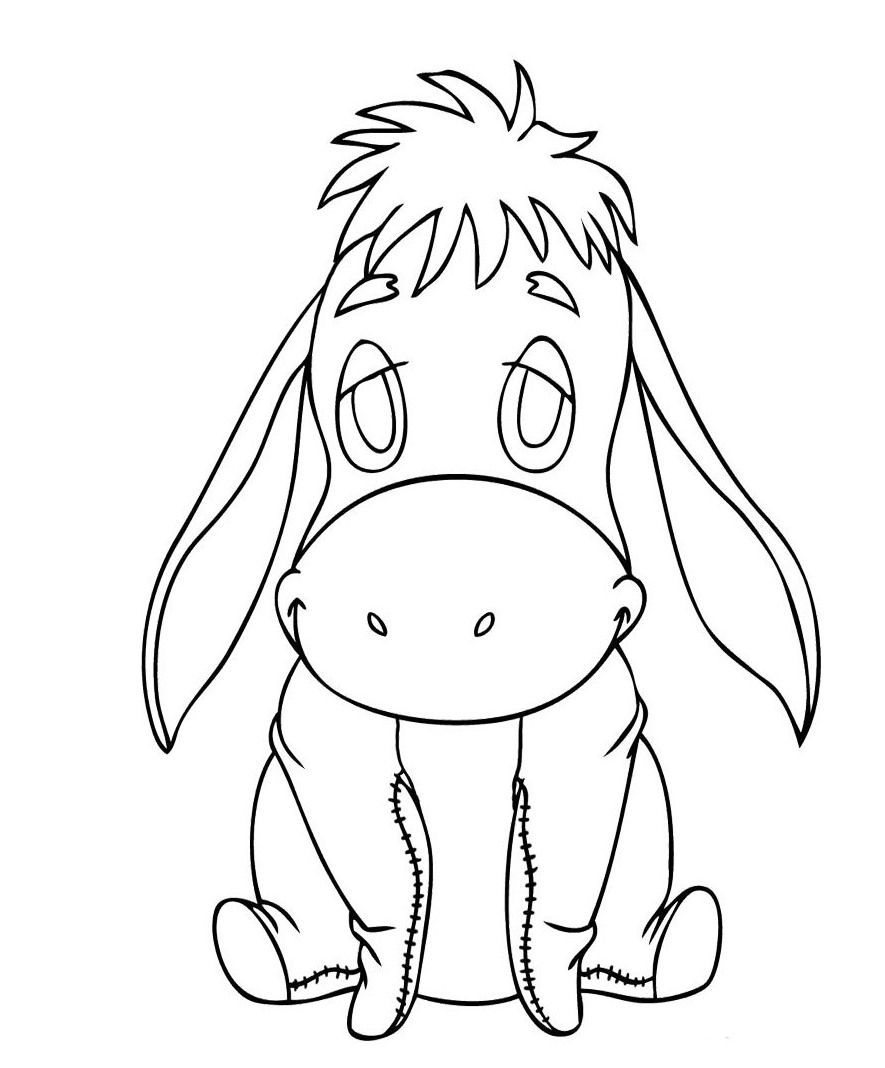 Printable Eeyore Coloring Pages Coloring Me Eeyore Coloring Page