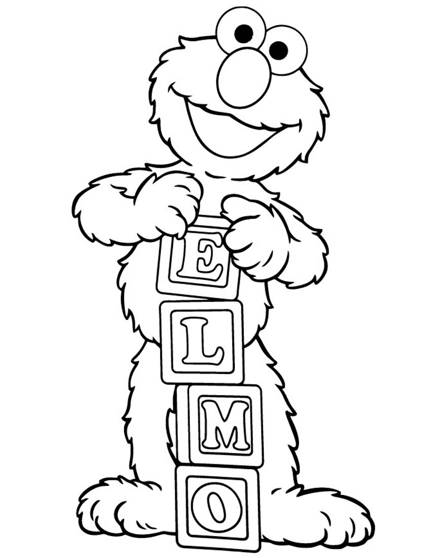elmo coloring pages numbers preschool - photo#13