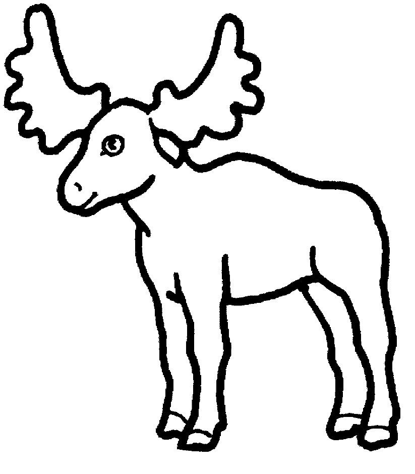Printable moose coloring page