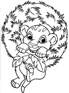 Baby Simba Coloring Pages