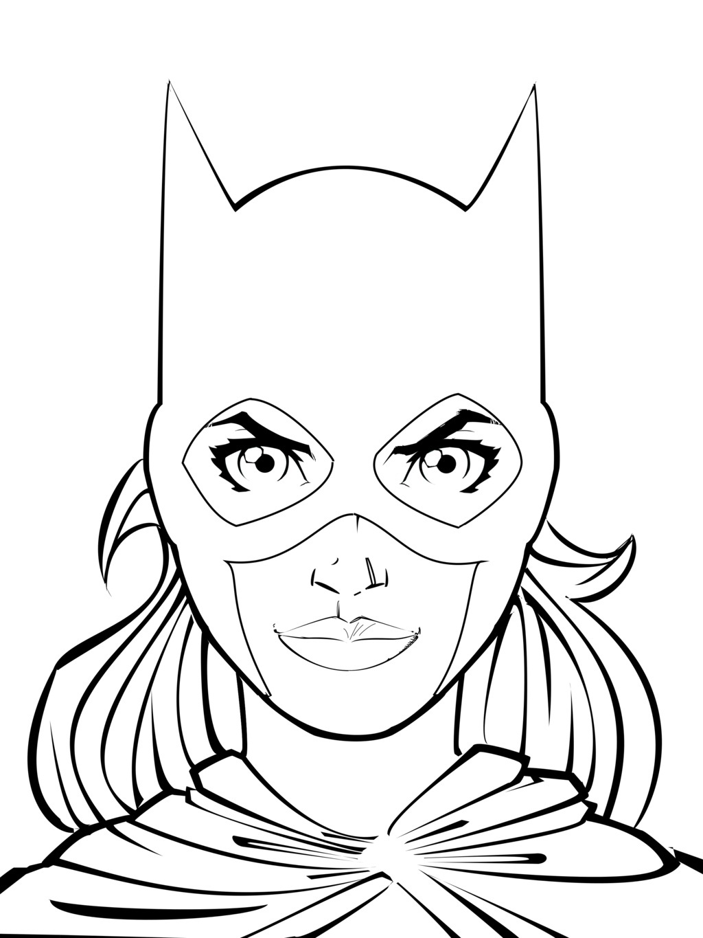 printable batgirl coloring pages coloring me Supergirl Coloring  Batgirl Coloring