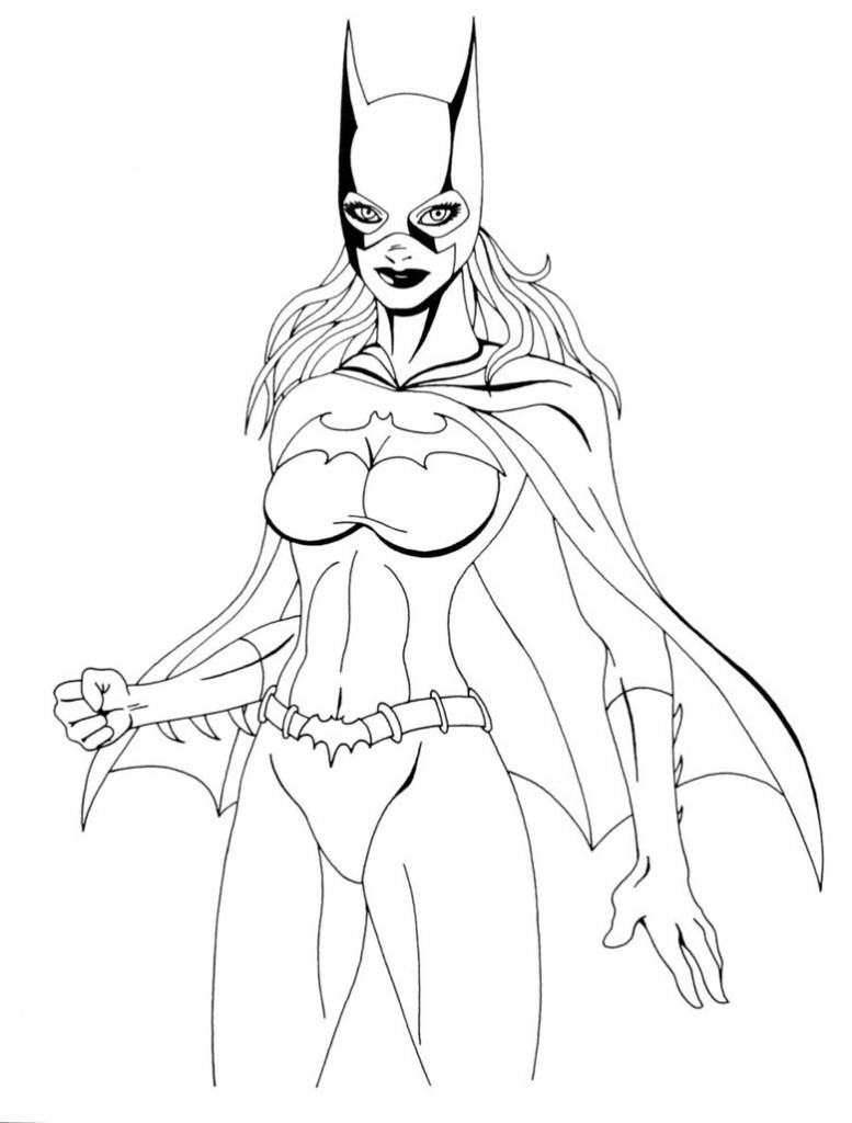 Printable Batgirl Coloring Pages | Coloring Me