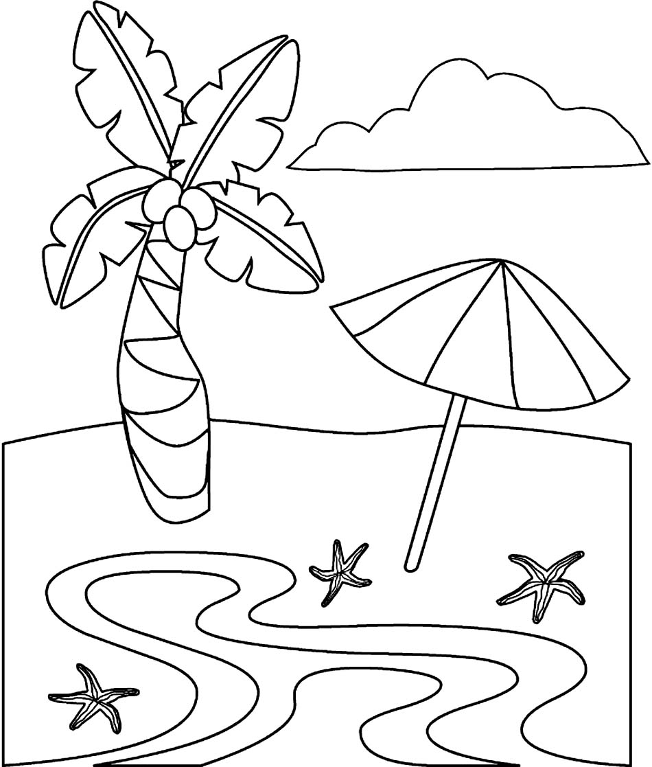free online beach coloring pages - photo#17