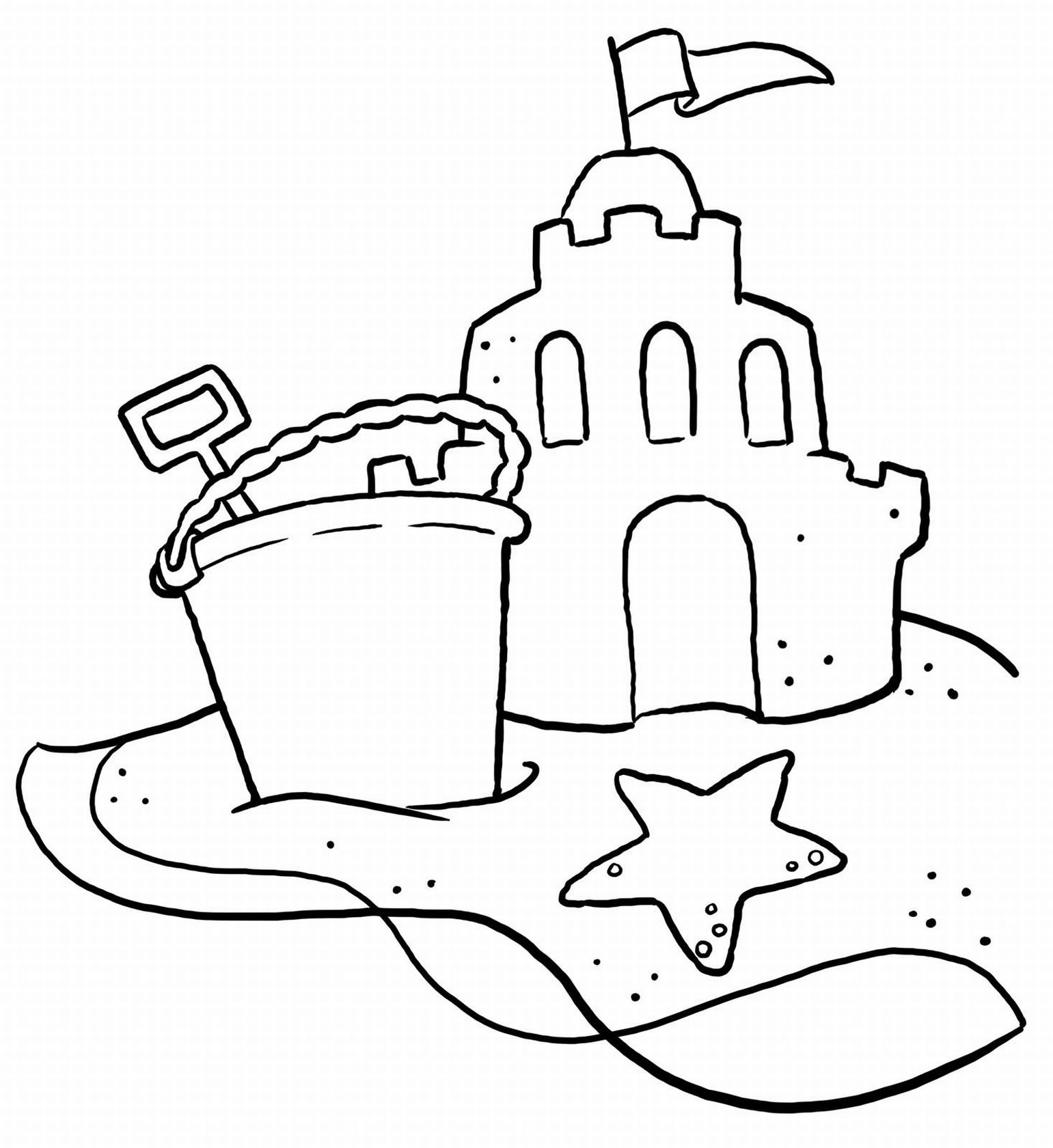 free printable beach coloring pages - photo#12