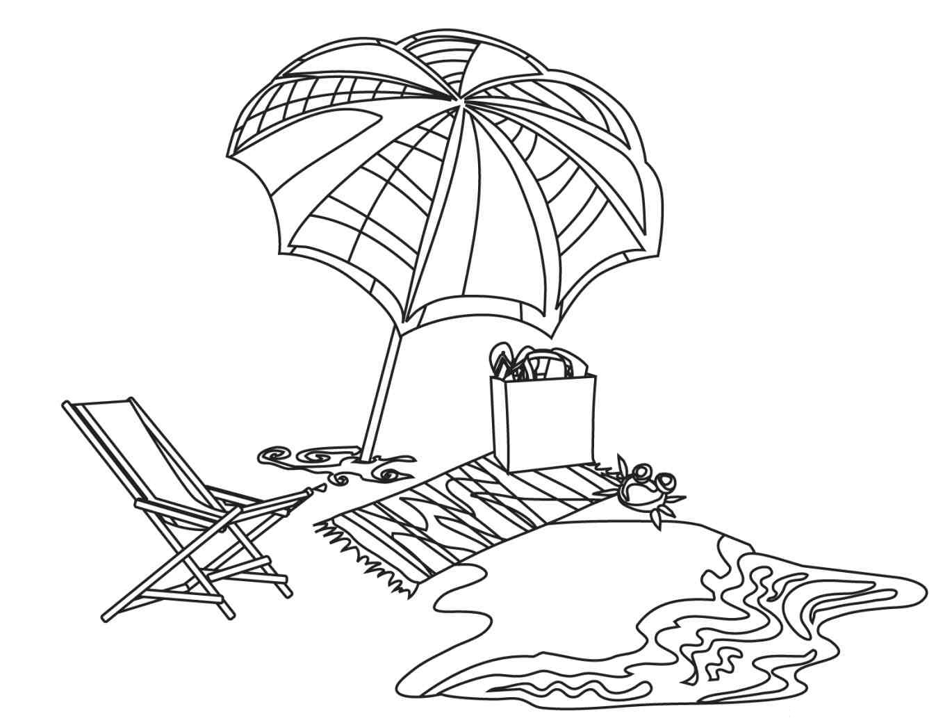 Beach Printable Coloring Pages